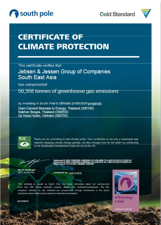 Our most recent carbon neutrality certification venture with global sustainability solutions leader, South Pole Group.