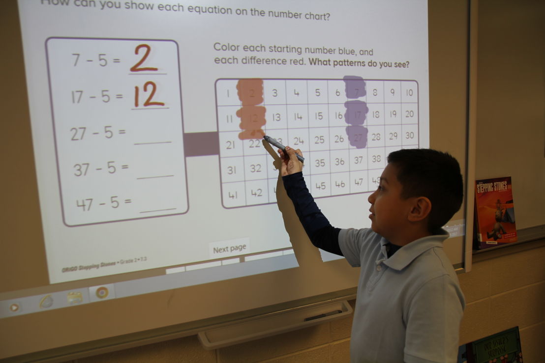 "Students ""color"" directly on the screen"