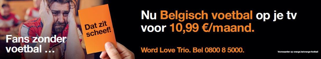 Orange Belgium zorgt opnieuw voor opschudding op de markt met een ongeziene prijs voor zijn voetbaloptie en een grote databoost voor alle GO Plus-abonnees