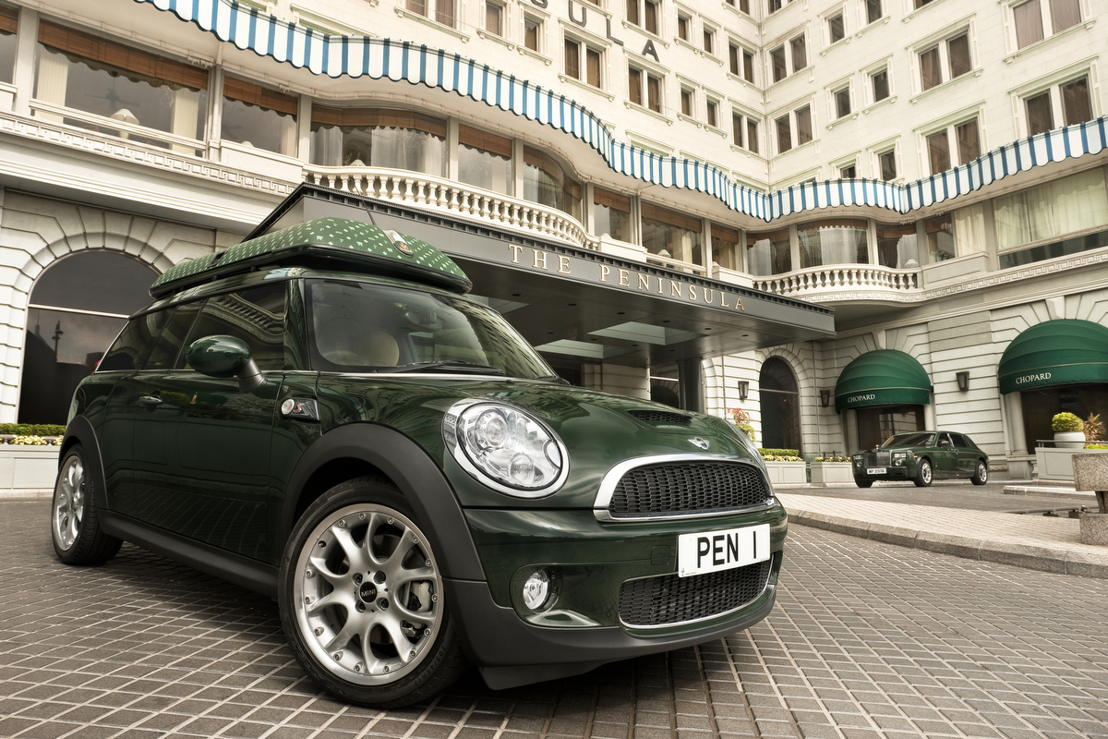 The Peninsula MINI Clubman at the Forecourt