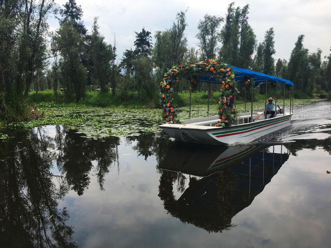 Trajinera en Xochimilco