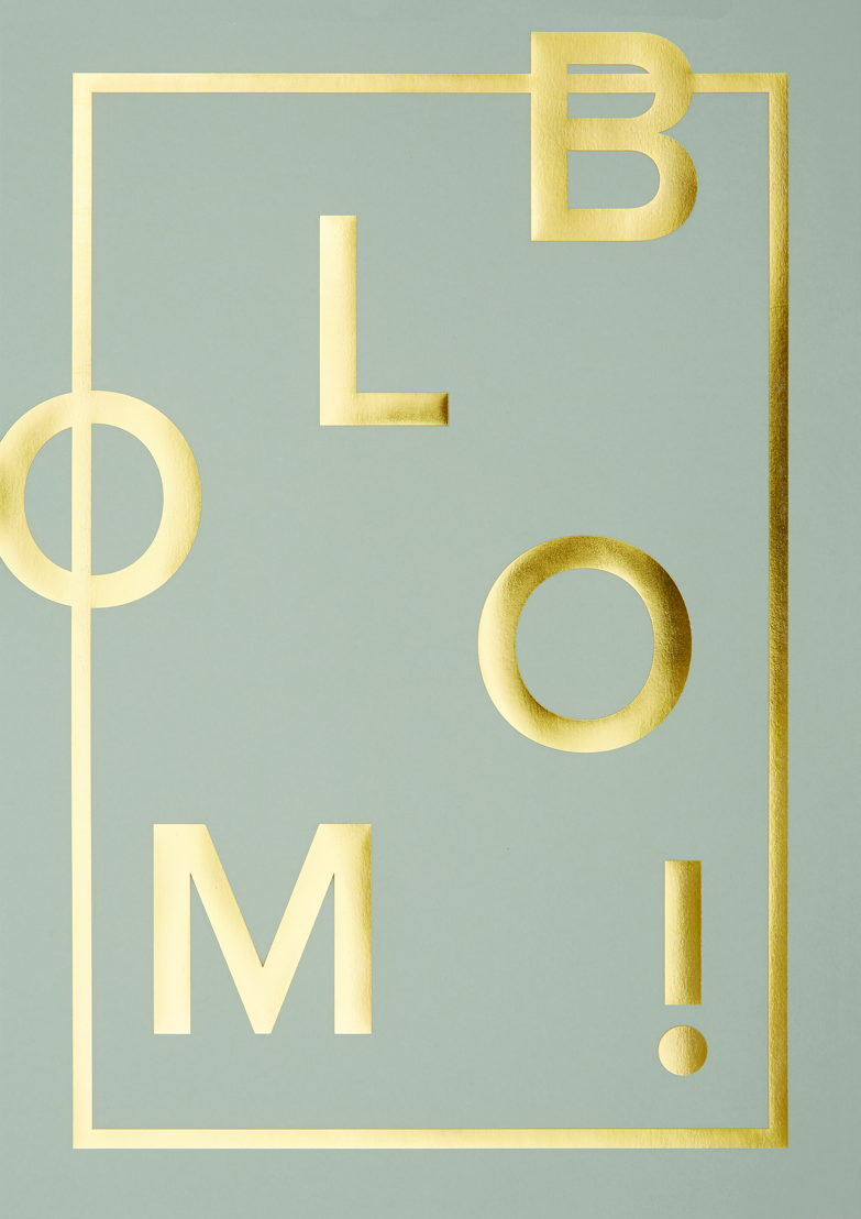 I Love My Type Poster Bloom! - real grey 34€