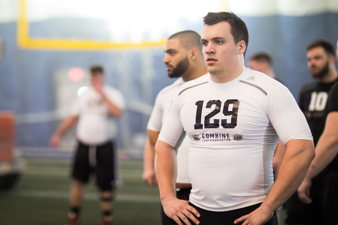 Mark Mackie at the Ontario Regional Combine presented by adidas. Photo credit: Kevin Sousa/CFL.ca