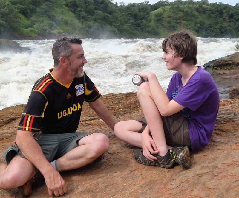 James and Sam Best on bank of Nile River. Australian Story