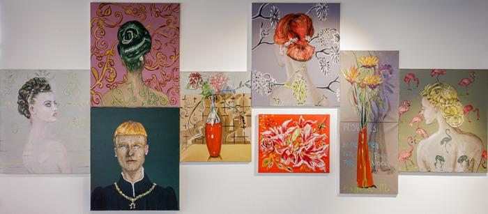 Kunstenaar Jan Van Imschoot exposeert met 8 werken in de hoofdingang van het UZ Brussel en een zeefdruk van Kasper Bosmans voor elke UZ Brussel-medewerker