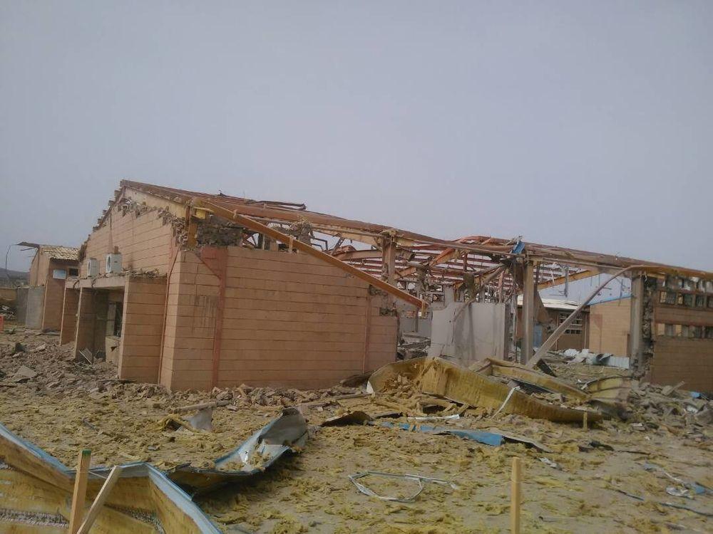 Estado en el que quedó el centro de cólera de MSF en Abs tras el ataque. MSF
