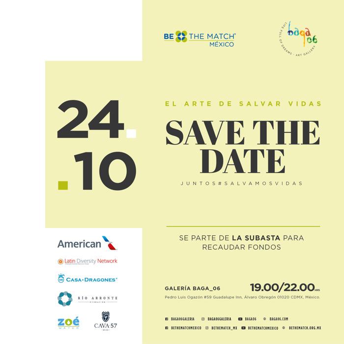 """SAVE THE DATE: """"EL ARTE DE SALVAR VIDAS"""", SUBASTA CON CAUSA"""
