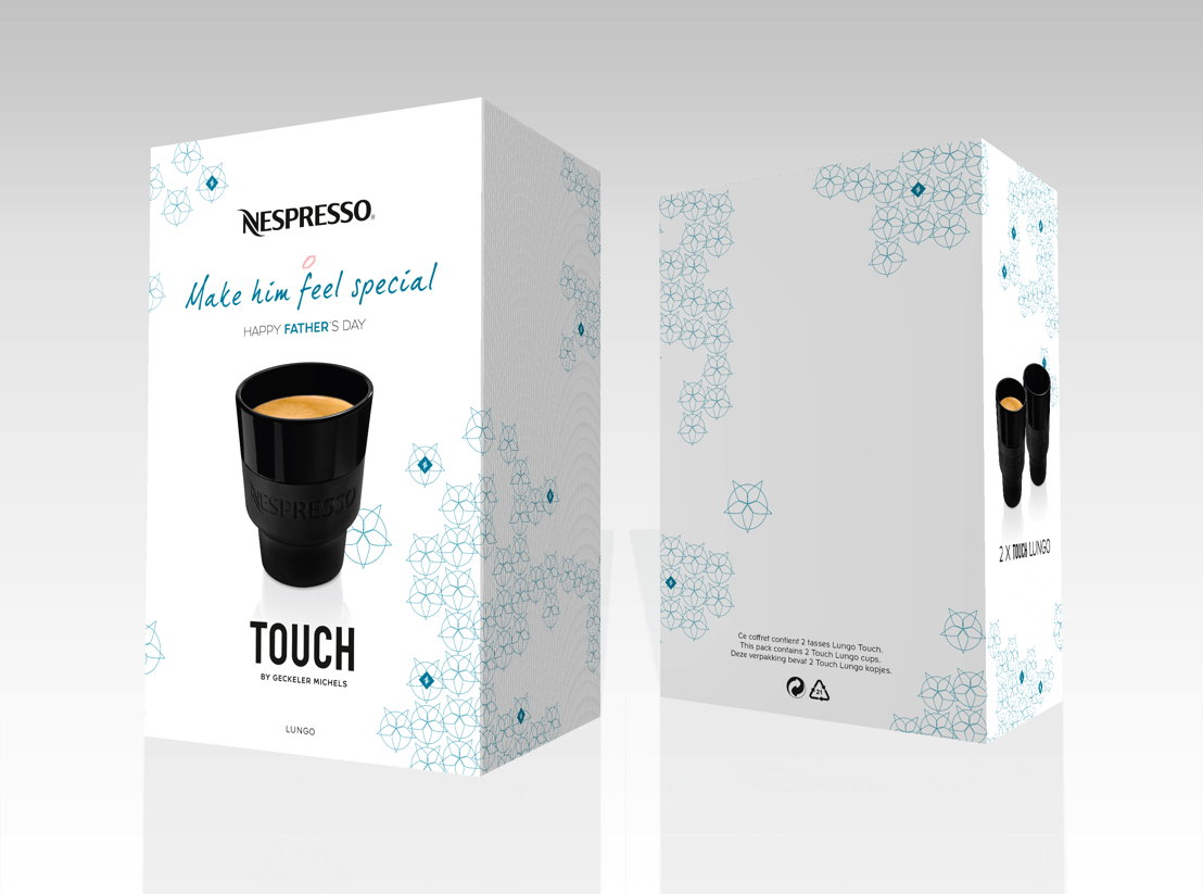 Limited Edition Vaderdag set van 2 tassen Lungo TOUCH Collection, 18 €