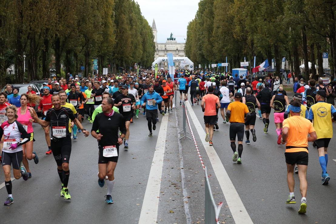 Die Läufer auf der Leopoldstraße im Herzen Schwabings.