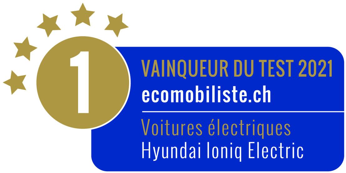 La Hyundai IONIQ Electric première à l'Écomobiliste 2021 de l'ATE, le KONA Electric troisième