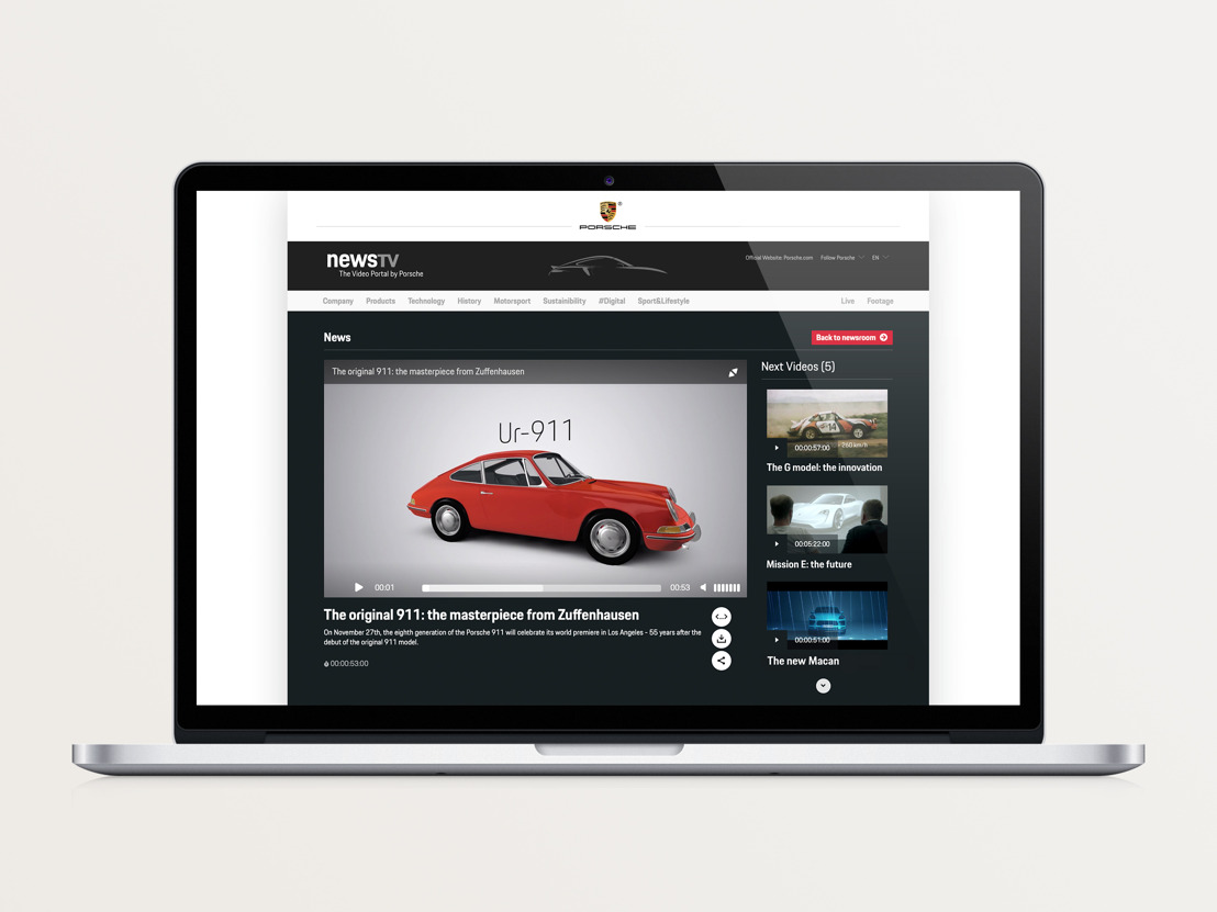 Debut for Porsche's new video portal