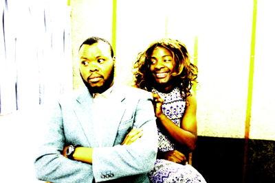 Hleze Kunju and Raymond Ndlovu in Brush up your braodway