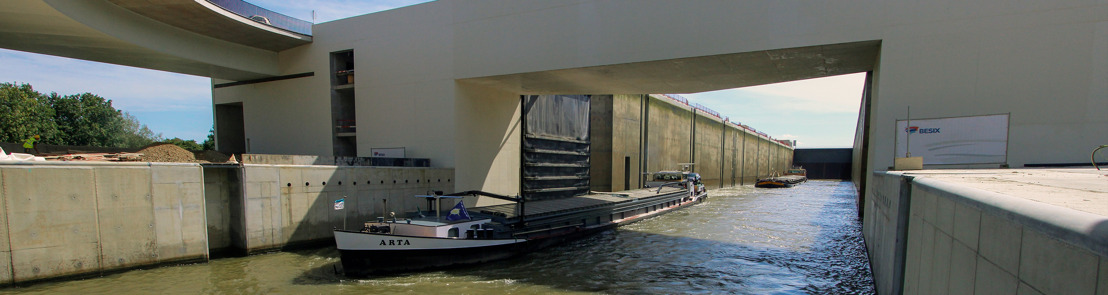 BESIX finalized the construction of the 4th lock in Lanaye