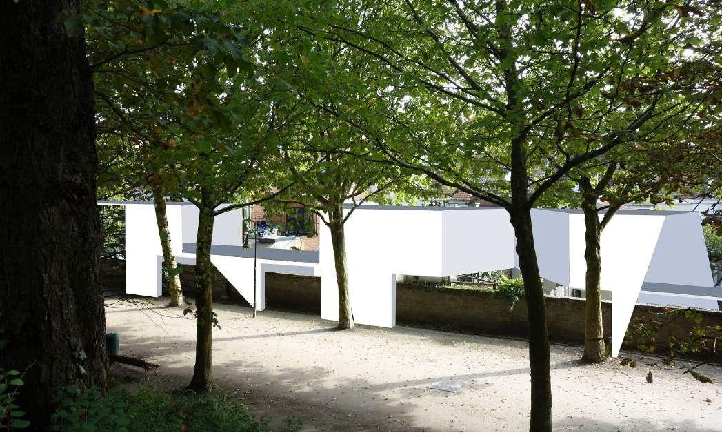 Planschetsen van Adrien Tirtiaux voor Boven de Muur - Tracing The Future