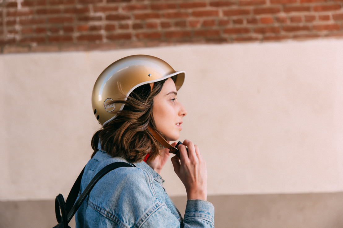 HELMET WITH STYLE AND THEFT PROOF: LIMITED EDITION GOLD