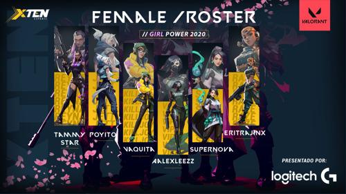 Logitech celebra el Día del Gamer apoyando al equipo femenil de XTEN en torneo de Valorant