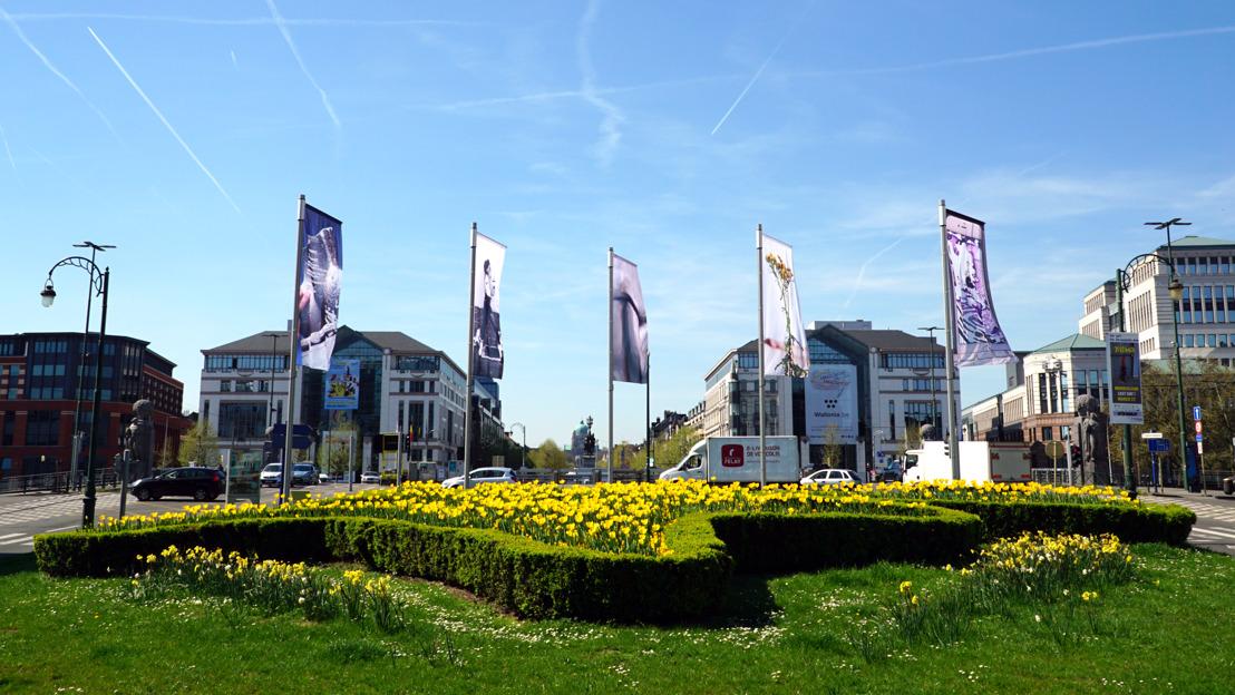 La nouvelle installation artistique sur la place Sainctelette met en avant le travail d'artistes bruxellois.