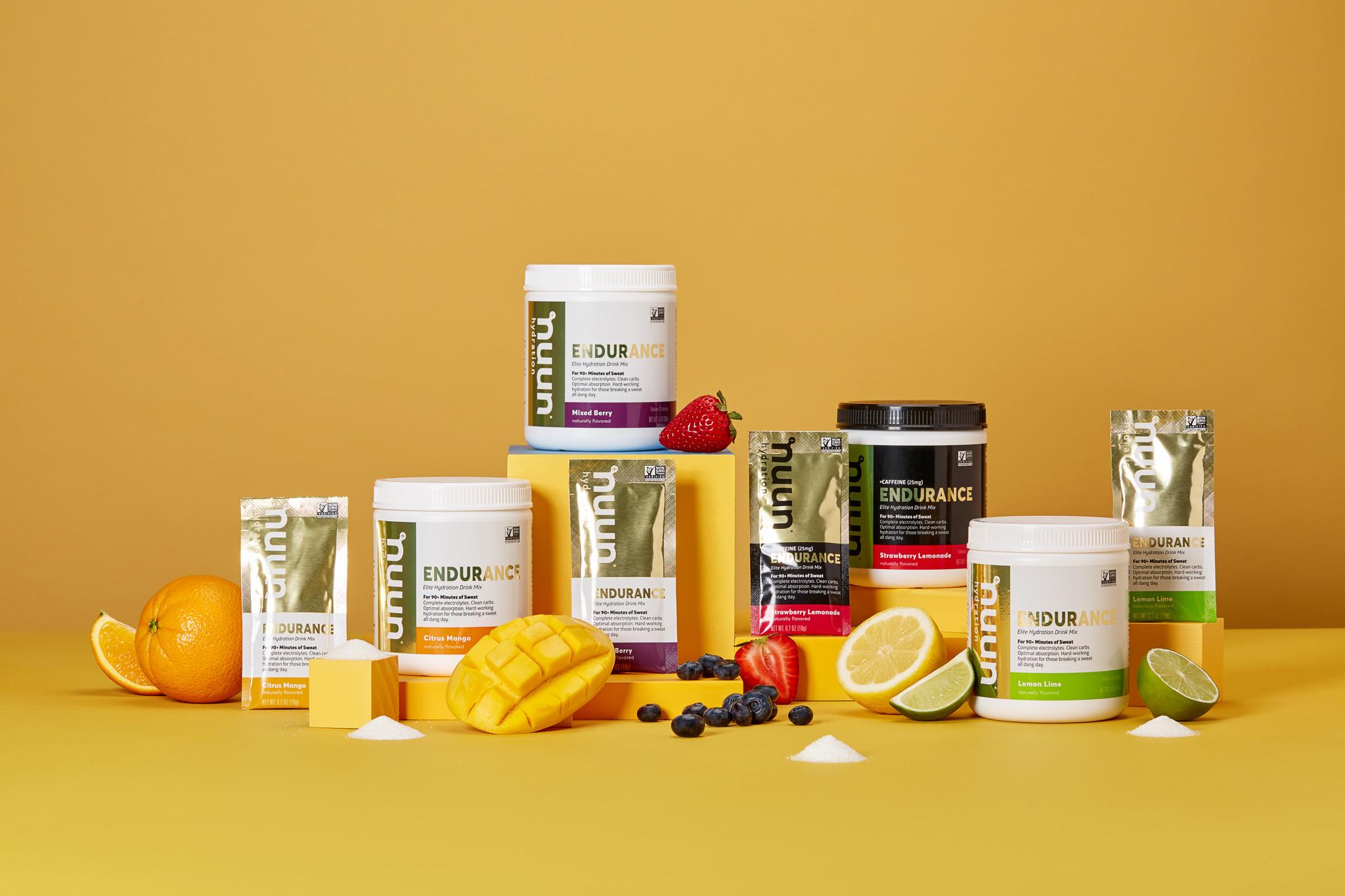 Carbs Nuun Hydration Performance Drink Mix Mango Orange 12 Sachets Electrolytes