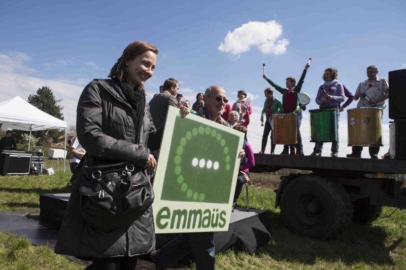 Emmaüs doolhof - Officieel inzaaimoment, Inge Vervotte, voorzitter dagelijks bestuur Emmaüs vzw