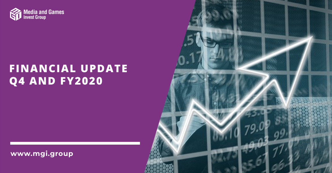 Media and Games Invest closes FY 2020 with a record quarter and significantly exceeds its increased financial targets from November. Revenue and adj. EBITDA grow by 73% YoY and 74% YoY in Q4'20