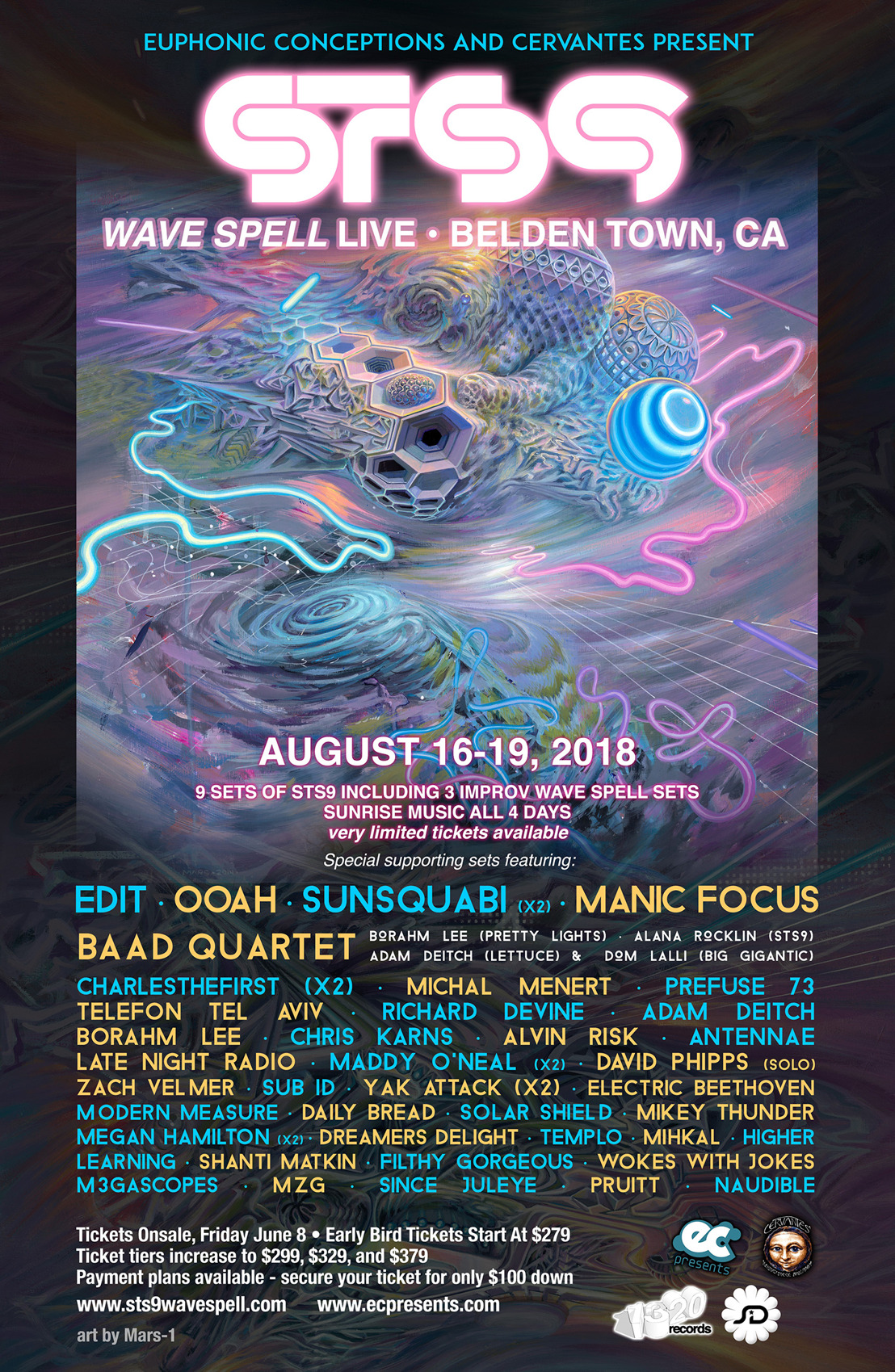 STS9 Debut Wave Spell Music Festival August 16-19 in Belden Town California