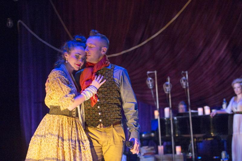 Lauren Jackson and Josh Epstein in Onegin. Photo by David Cooper.