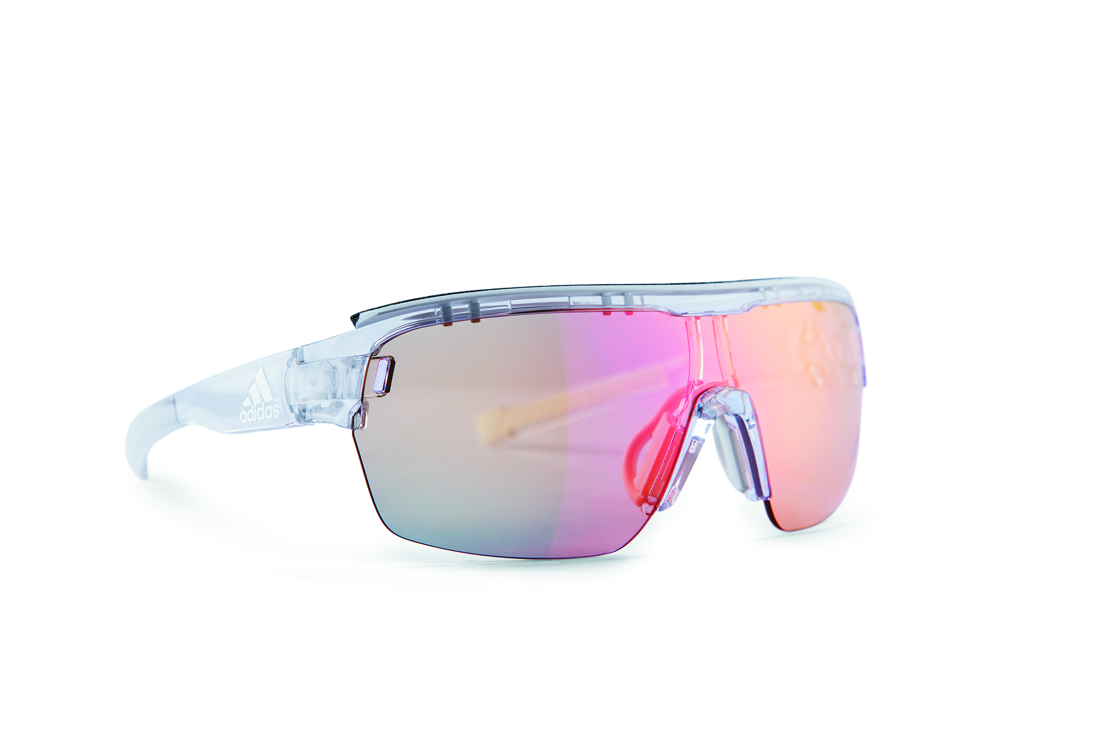 Sunglasses with photochromatic lens that changes with light levels