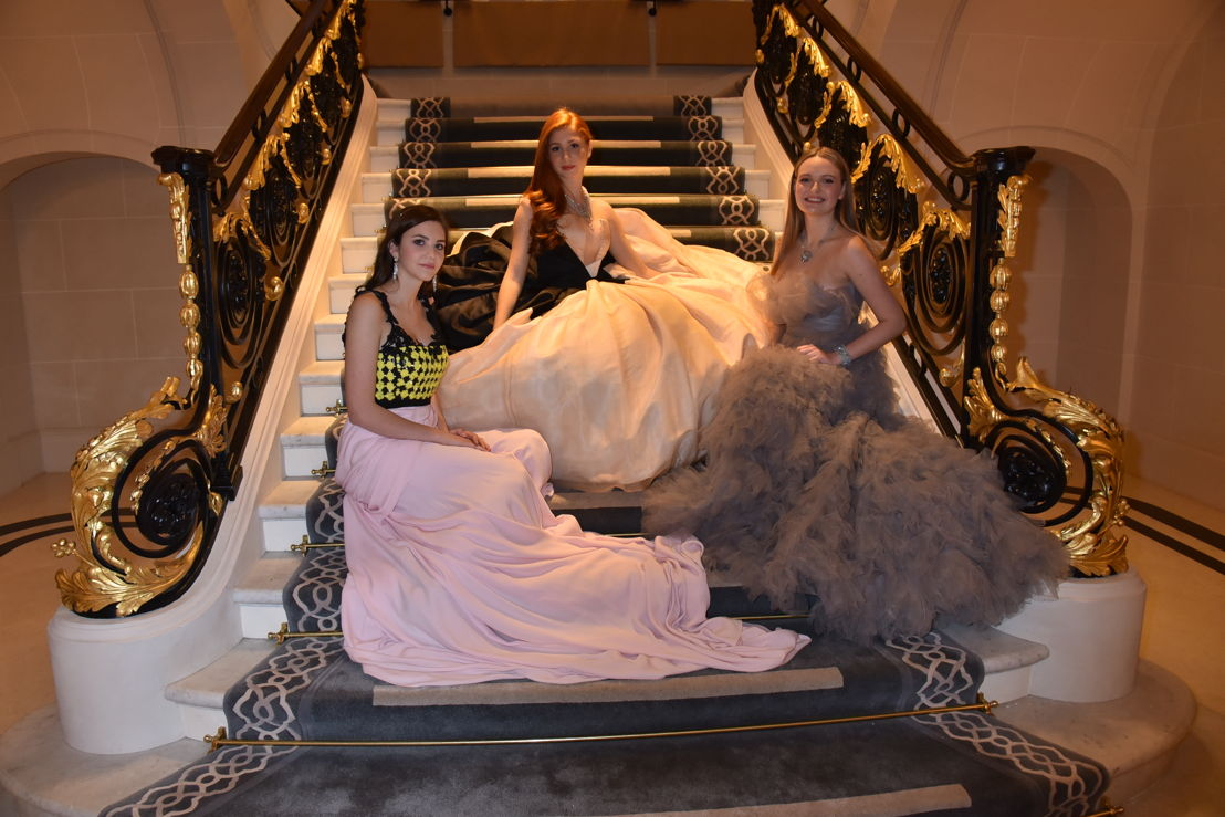 Alexina Fontes Williams in Yanina Couture, Marchioness Altea Patrizi Naro Montoro in Stephane Rolland HC and Maïa Twombly in Giambattista Valli HC (jewelery by Payal New York), Photo Jean Luce Huré