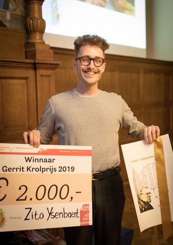 Zito Ysenbaert winnaar Gerrit Krolprijs 2019