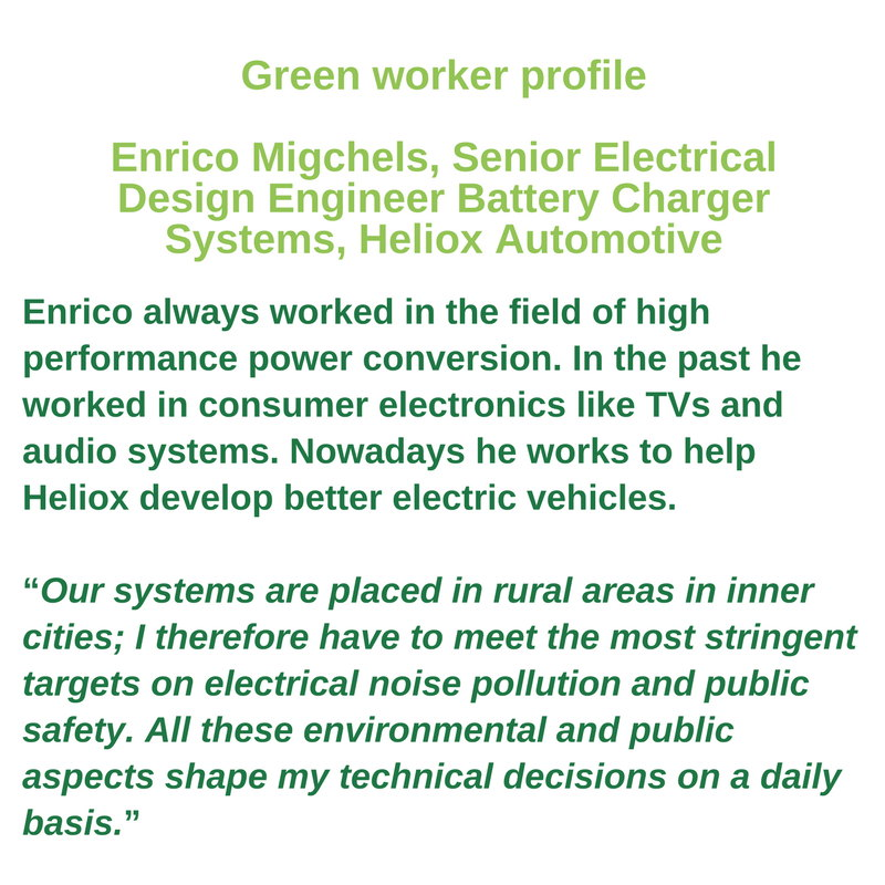 Green worker profile - Enrico Migchels