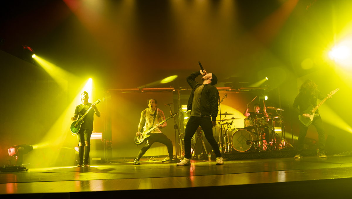 The band was filmed playing in Sweetwater Studios' Performance Theatre with their full touring sound and lighting rigs.