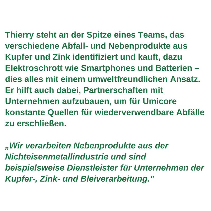Arbeitnehmerprofil für grüne Arbeitsplätze - Thierry van Kerckhoven