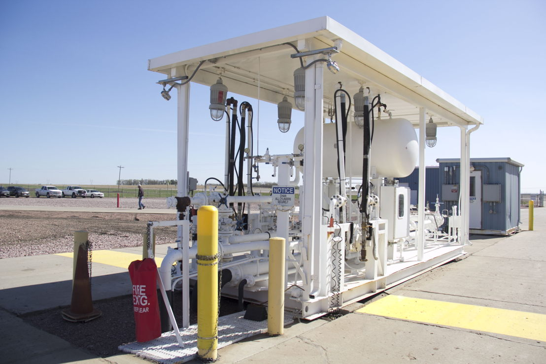 The terminal has the capacity to fill two semi-truck tanks simultaneously, each loading at a rate of approx. 570 gallons per minute.