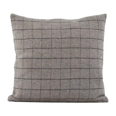 House Doctor Kussen square licht grijs/donker grijs 42€