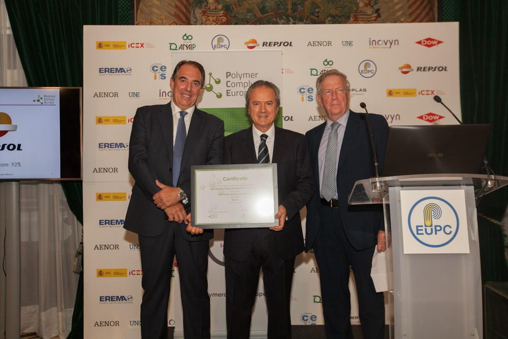 Esteban Gimeno &  Juan Carlos Ruiz, Repsol & Ron Marsh, Chairman