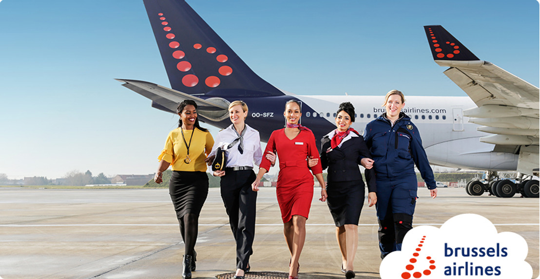 Brussels Airlines flies all-women crews on International Women's Day