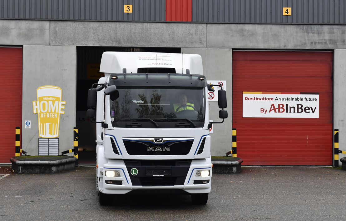 Vanaf april 2020 belevert AB InBev cafés met allereerste Belgische e-truck