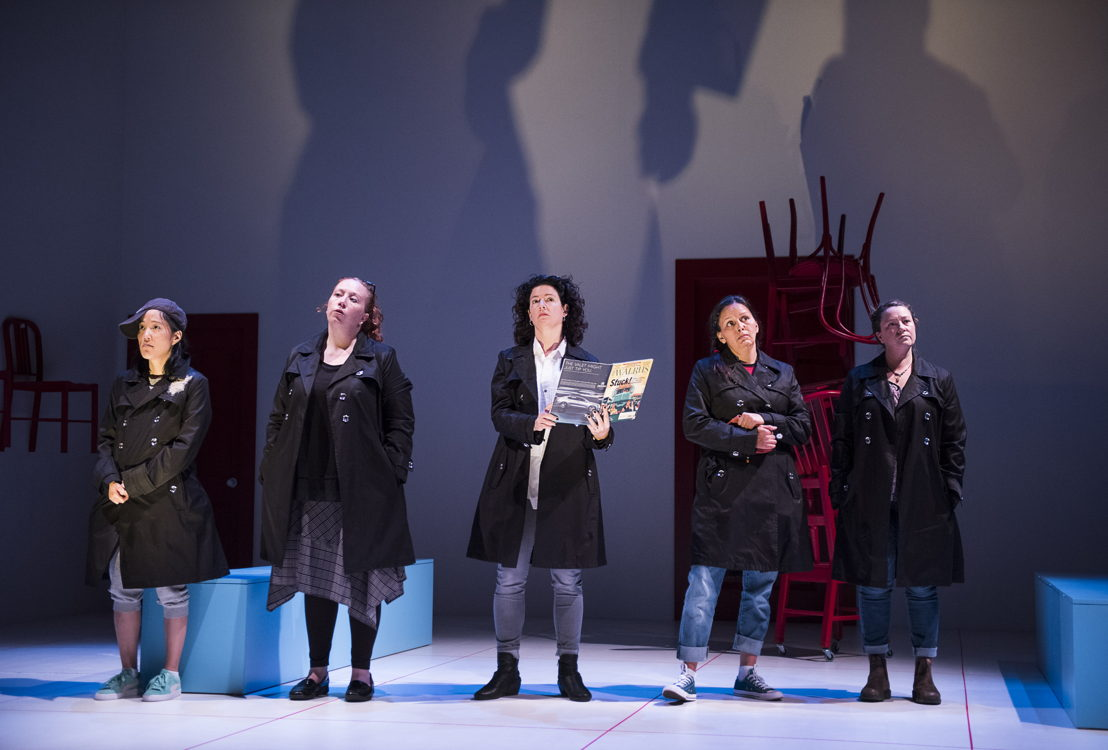 Trish Cooper, Sarah Donald, Yumi Ogawa, Jennifer Paterson, and Lisa C. Ravensbergen star in Mom's the Word / Photos by Emily Cooper