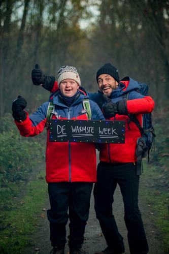 Down the snow: Dieter Coppens en Kevin samen onderweg voor De Warmste Week