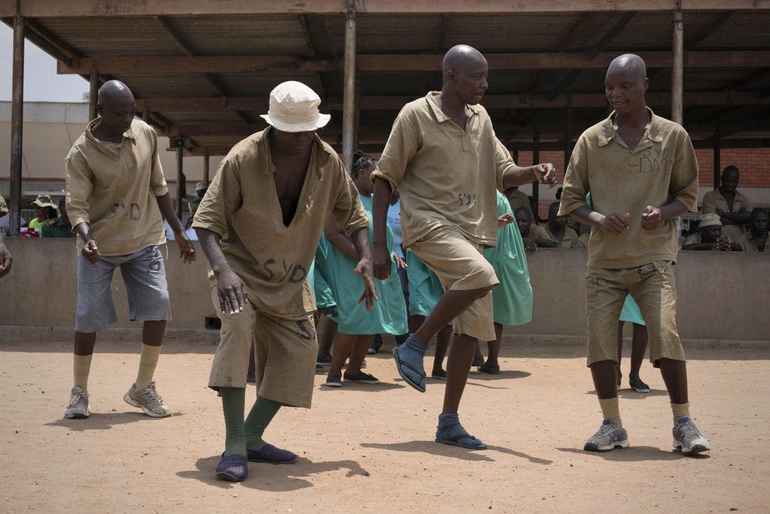 World Mental Heath Day Commemorations in Harare, Zimbabwe. Mental health patients from Chikurubi Prison in Harare, Zimbabwe, perform testimonies with spoken word poetry, dancing and theatre performances. The events marked Harare's World Mental Health Day. Rachel Corner/De Beeldunie