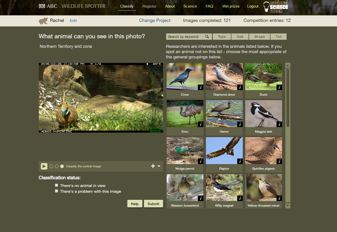 Wildlife Spotter screen shot