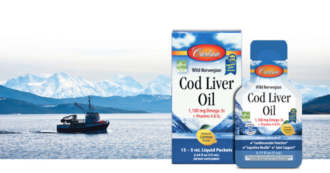 Carlson Adds Cod Liver Oil to their Growing Line of Single-Serving Packets
