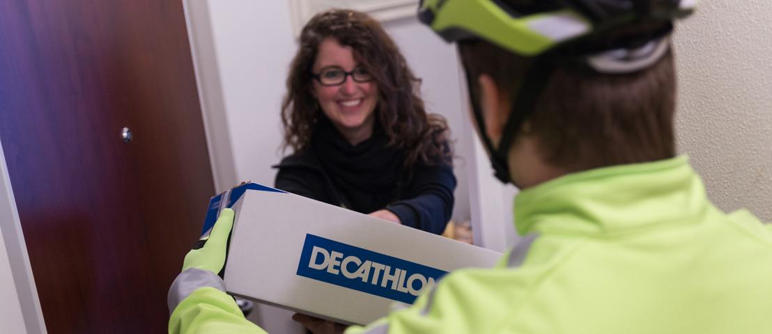 Decathlon brengt je online bestelling ecologisch aan huis