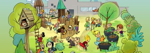 39 scholen ontvangen subsidie voor vergroening van hun speelplaats