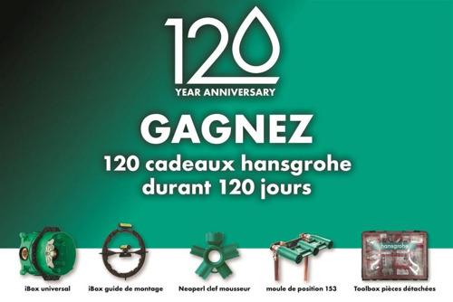 Preview: Un moment important pour hansgrohe : la marque fête son 120ème anniversaire et ses 30 ans sur le marché belge