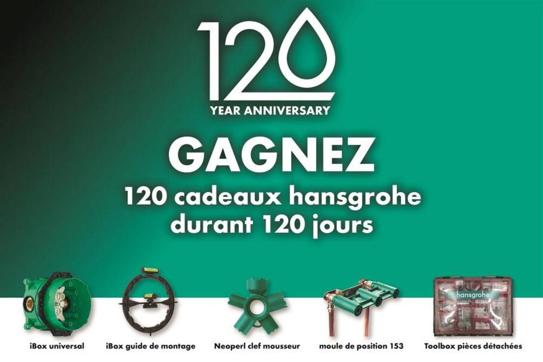 Un moment important pour hansgrohe : la marque fête son 120ème anniversaire et ses 30 ans sur le marché belge