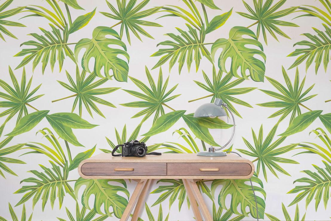 Tropical Leaves Print Wallpaper