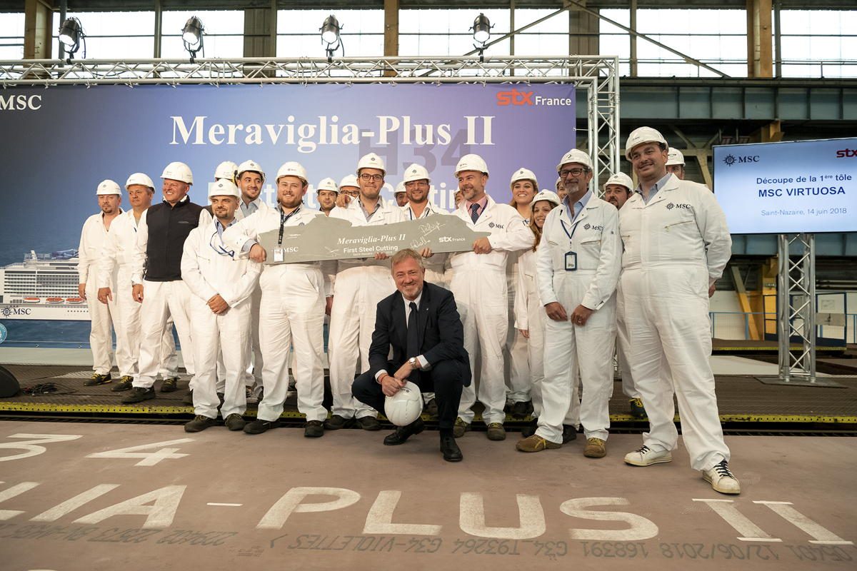 Steelcutting ceremony MSC Virtuosa 1 - CC Ivan Sarfatti