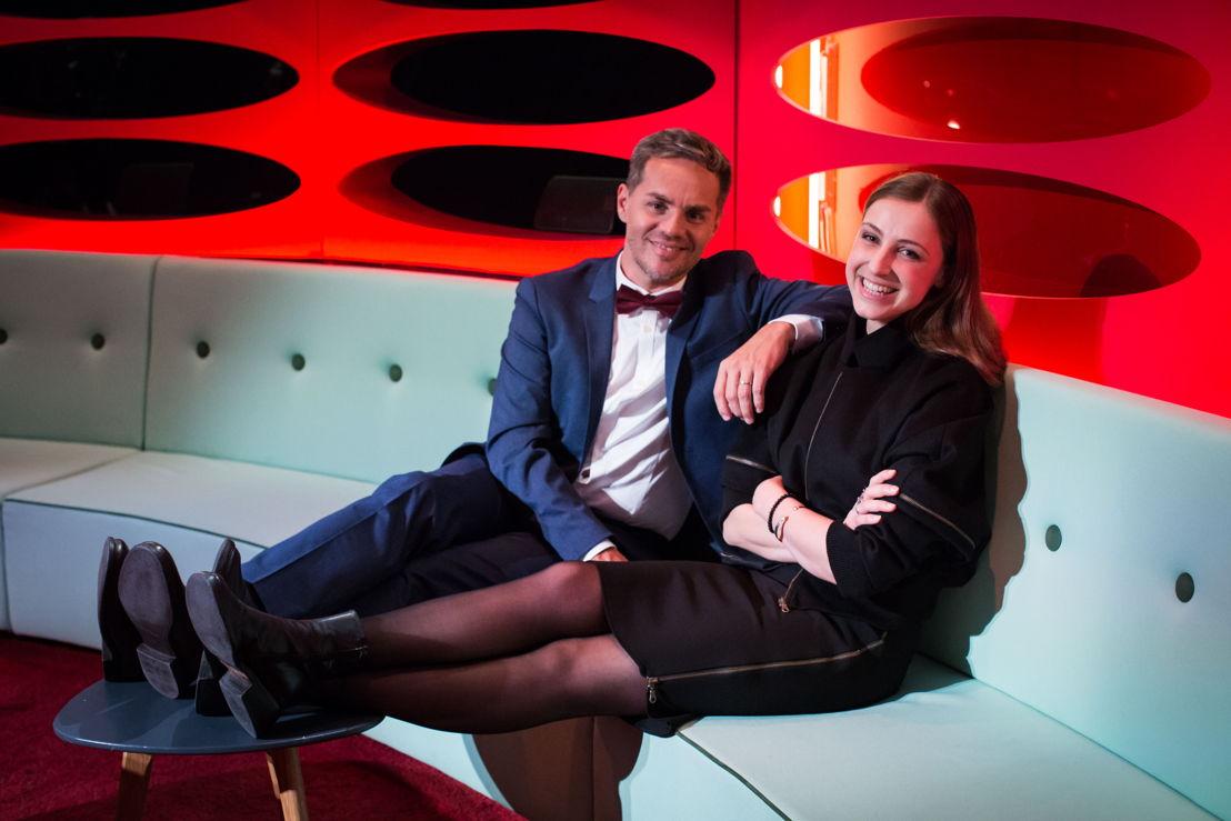 Peter Van de Veire en Laura Groeseneken (c) VRT/Bas Bogaerts