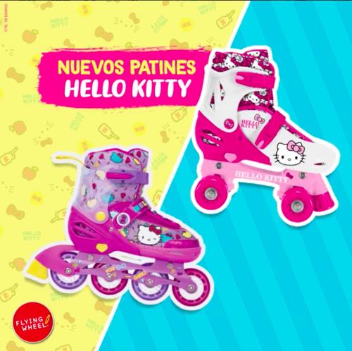 ¡Sé la más veloz con los patines de Hello Kitty!